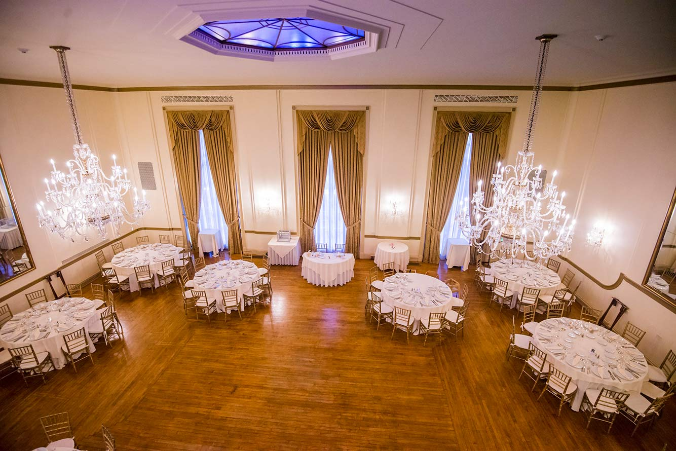 Wedding Reception Banquet In Grand Ballroom