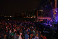 outdoor performance venues with large stage in new york city