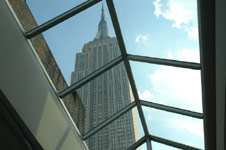 new york rooftop venue facing empire state building