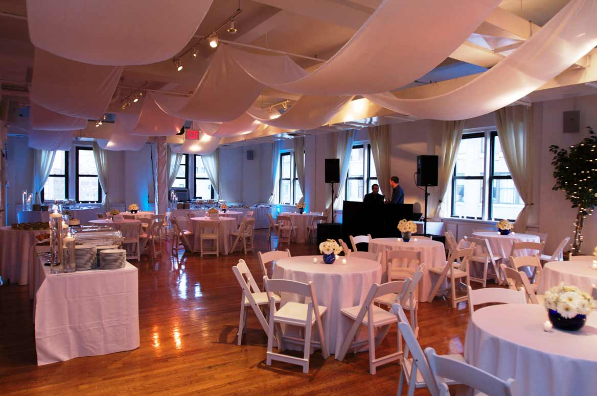 ... Banquet Setup - Rectangular Tables · Buffet-Style Party with DJ ... & Gramercy/Flatiron NYC Loft with Large Terrace - New York NY ...