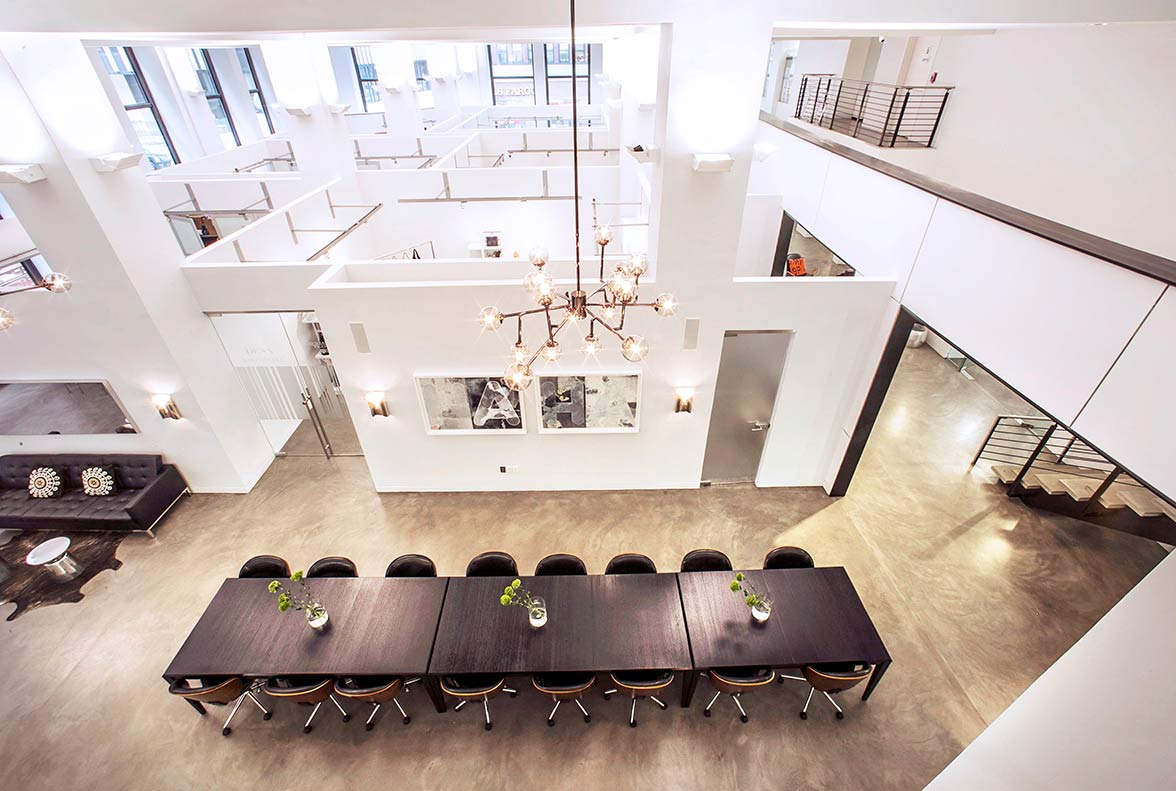 Modern NYC Meeting Venue And Loft Space With Conference Rooms - 16 person conference table