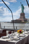 manhattan dinner cruise ship charter with statue of liberty views