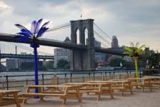 manhattan outdoor party space with brooklyn bridge views