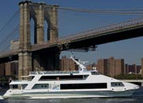 ny harbor cruise ship charter with outdoor deck space