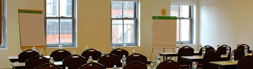 conference room rental downtown nyc - classroom-style setup